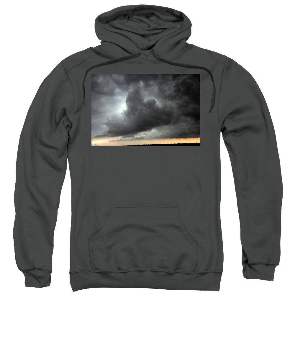 Stormscape Sweatshirt featuring the photograph Severe Warned Nebraska Storm Cells by NebraskaSC