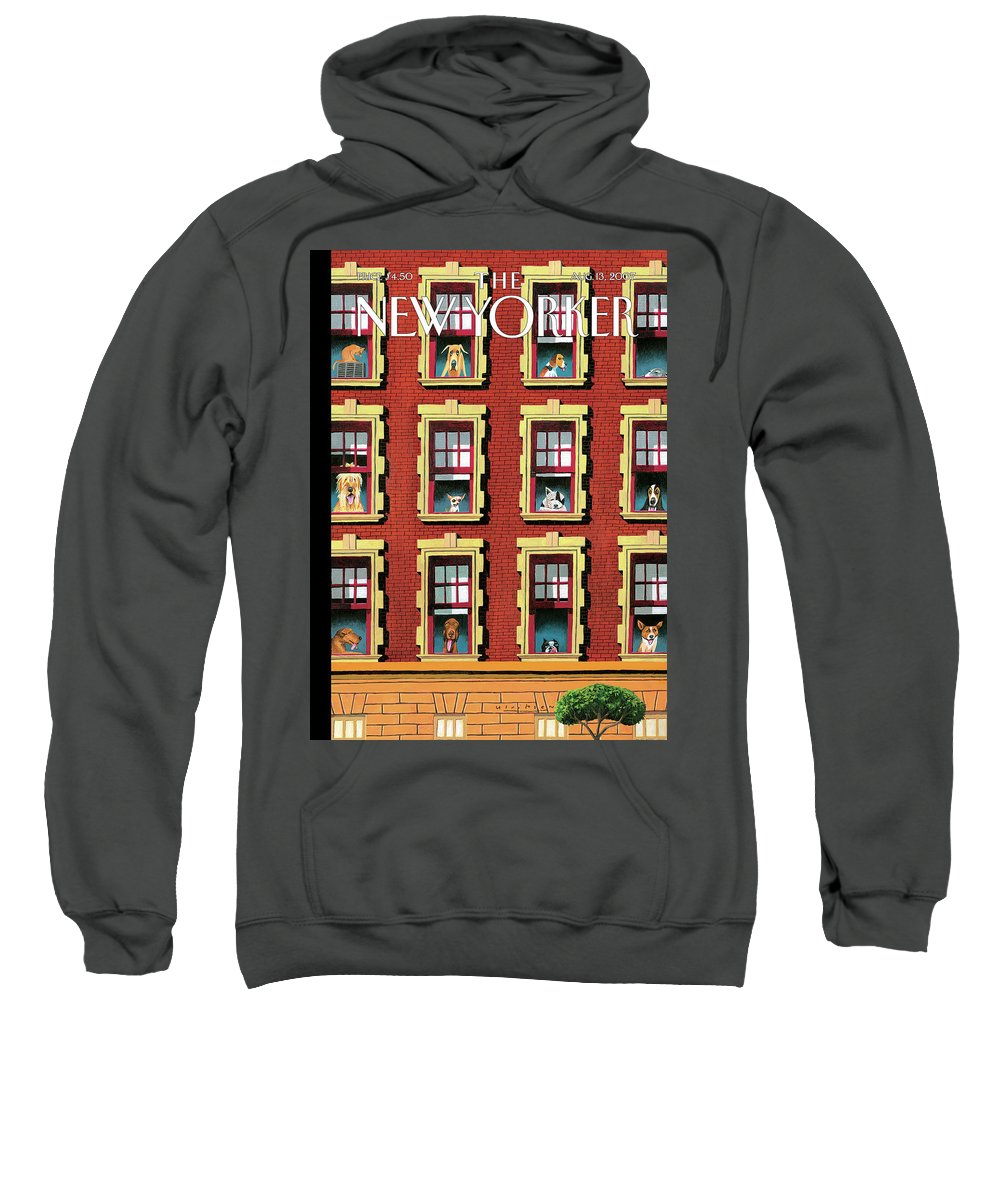 Hot Dogs Sweatshirt featuring the painting Hot Dogs by Mark Ulriksen