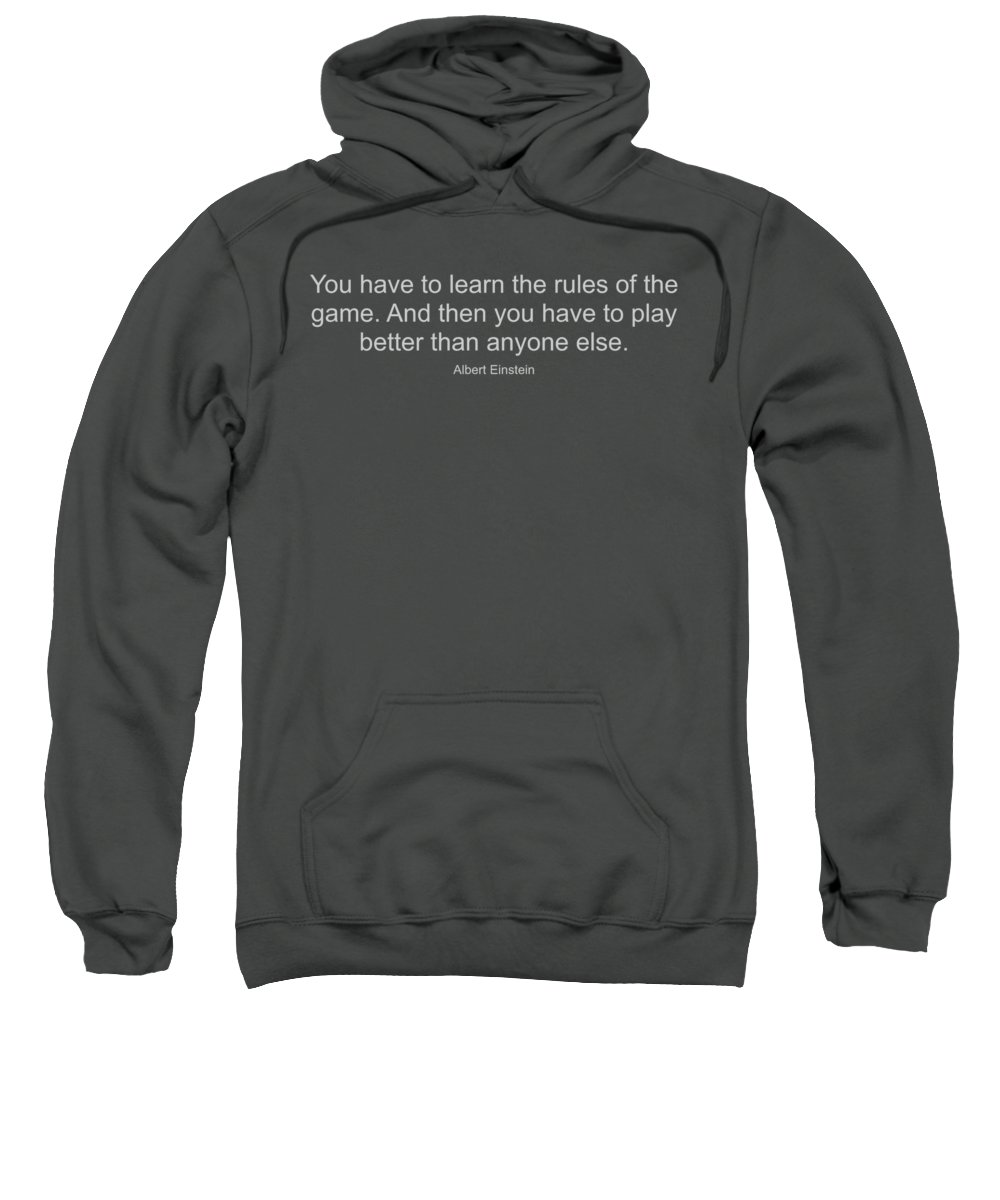 Albert Einstein Quote Adult Pull-Over Hoodie for Sale by Design Ideas