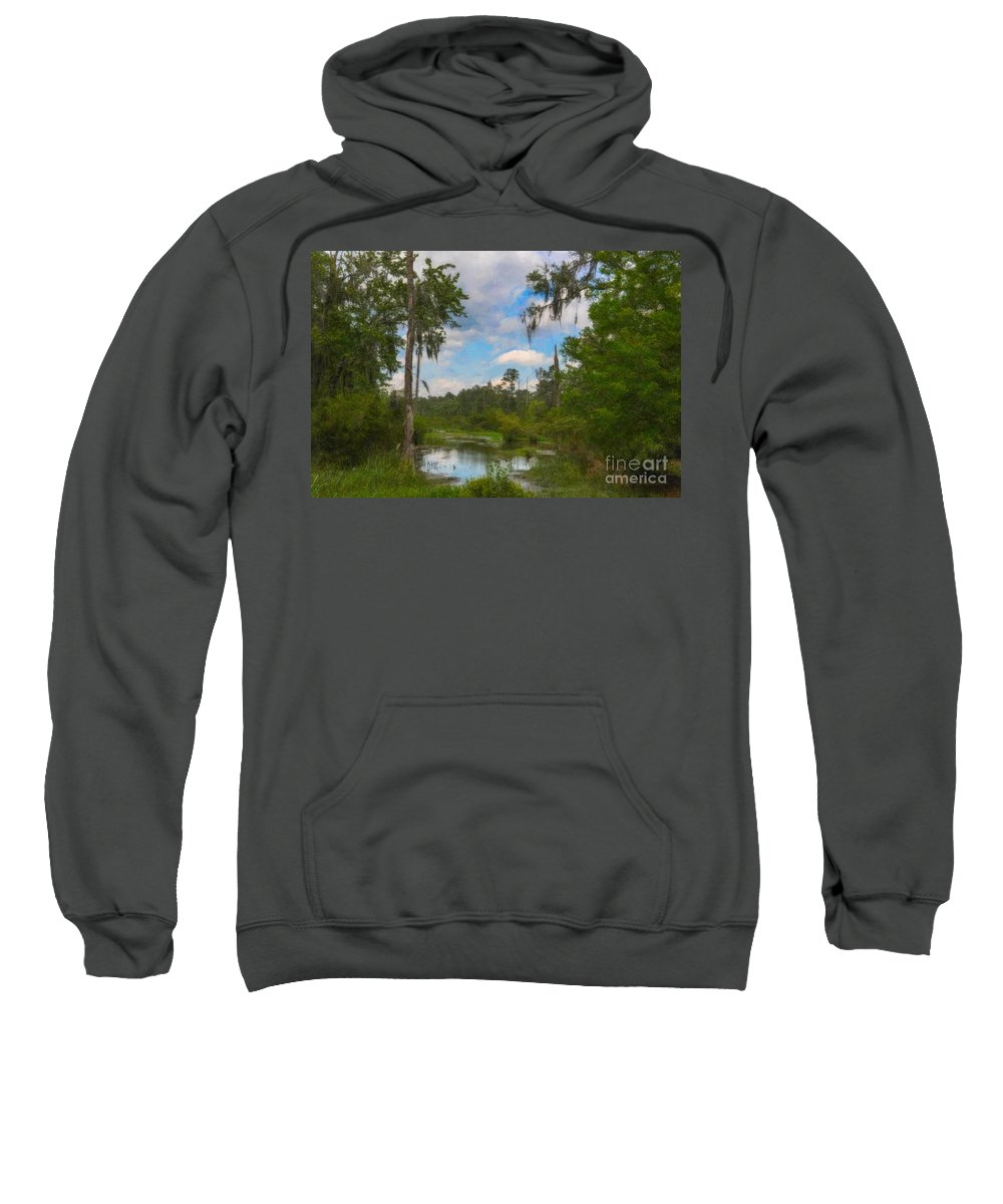 Marsh Sweatshirt featuring the photograph Lowcountry Marsh by Dale Powell