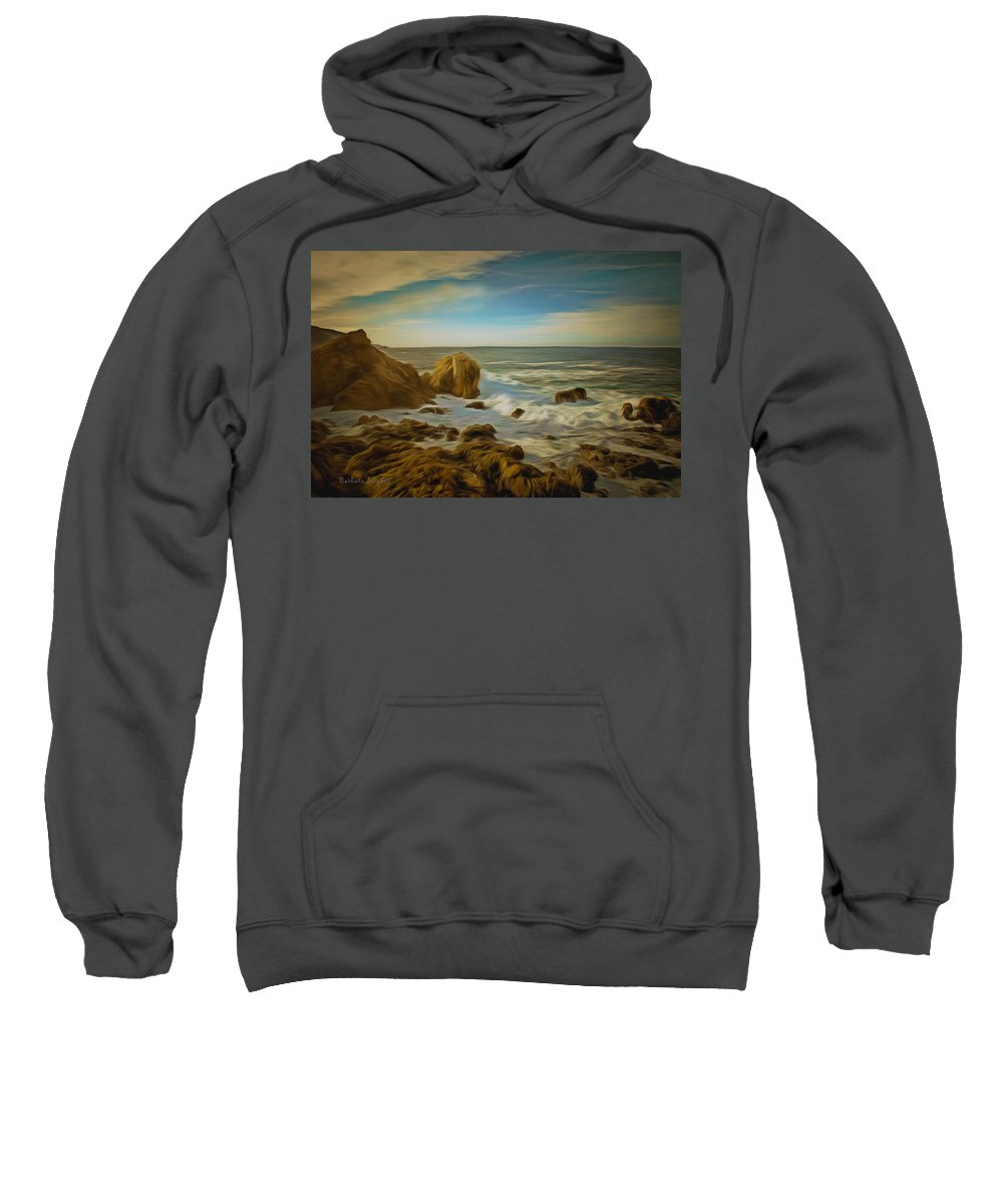 Barbara Snyder Sweatshirt featuring the painting 17 Mile Drive Coastline by Barbara Snyder