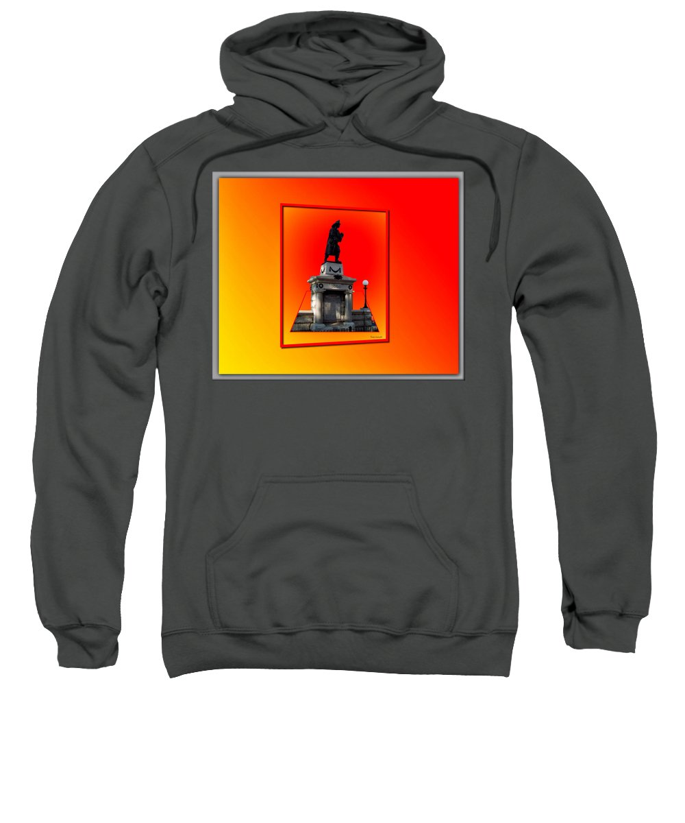 Statue Sweatshirt featuring the photograph 1898 Firemen Memorial by Thomas Woolworth