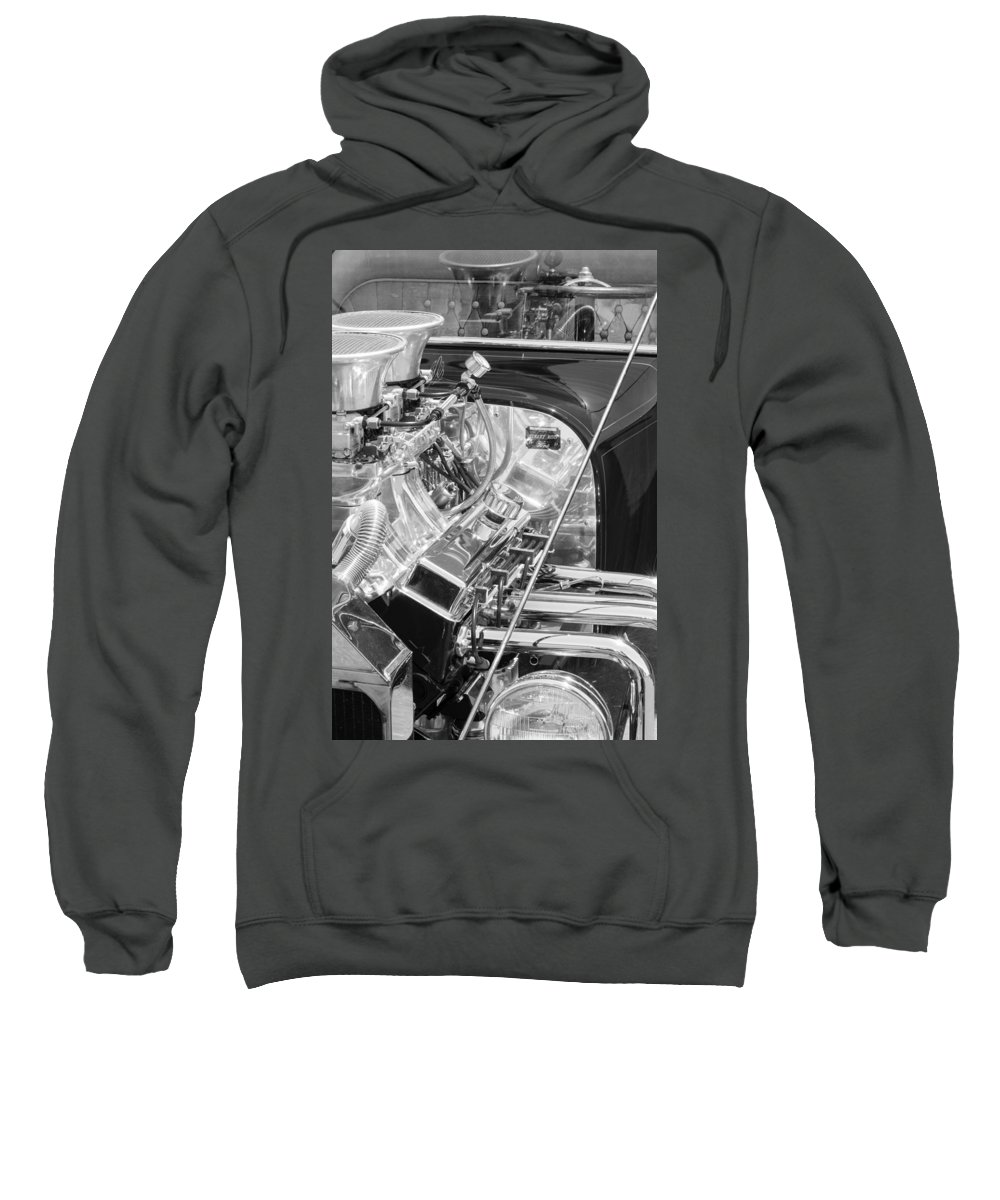 1923 Ford T-bucket Engine Sweatshirt featuring the photograph 1923 Ford T-bucket Engine 2 by Jill Reger