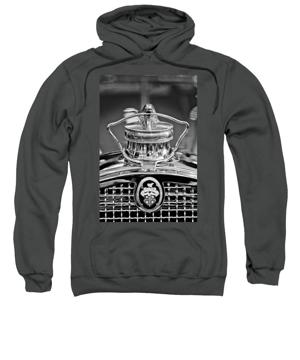1929 Packard 8 Sweatshirt featuring the photograph 1929 Packard 8 Hood Ornament 4 by Jill Reger