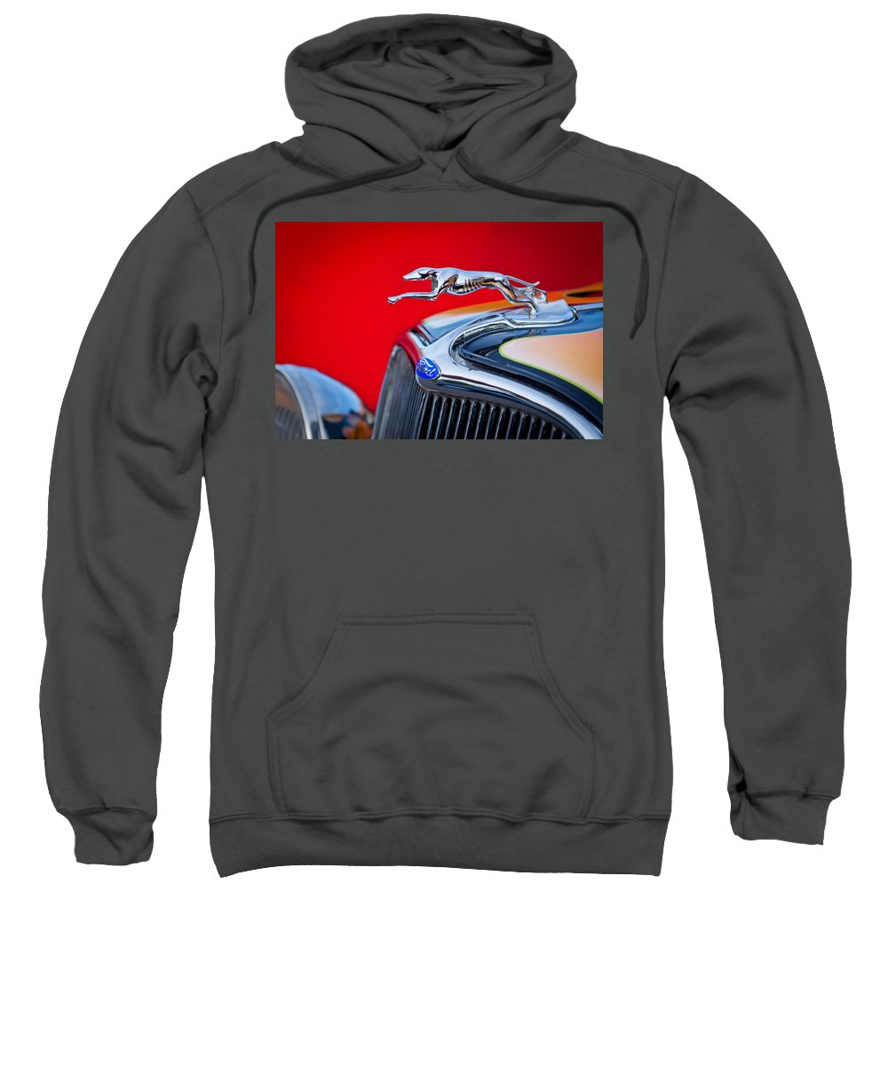 1933 Ford Sweatshirt featuring the photograph 1933 Ford Hood Ornament by Jill Reger