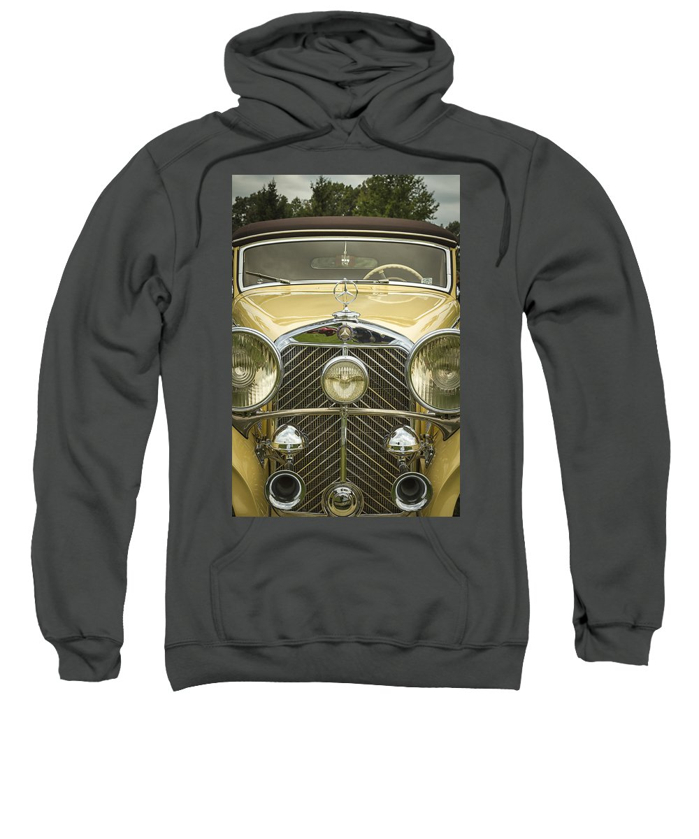 A Sweatshirt featuring the photograph 1936 Mercedes Benz by Jack R Perry
