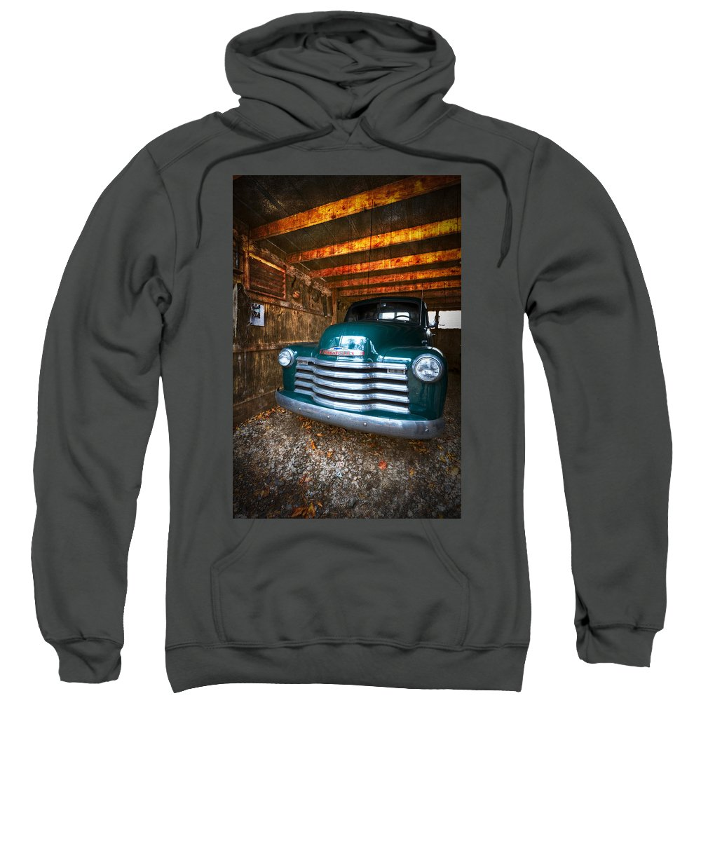 '50 Sweatshirt featuring the photograph 1950 Chevy Truck by Debra and Dave Vanderlaan