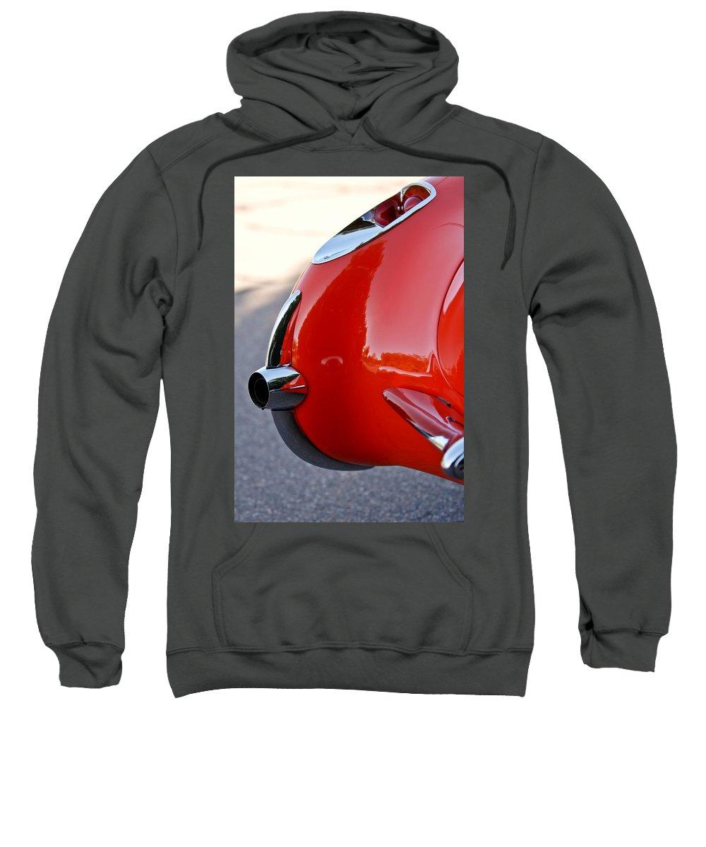 1957 Chevrolet Corvette Sweatshirt featuring the photograph 1957 Chevrolet Corvette Taillight by Jill Reger