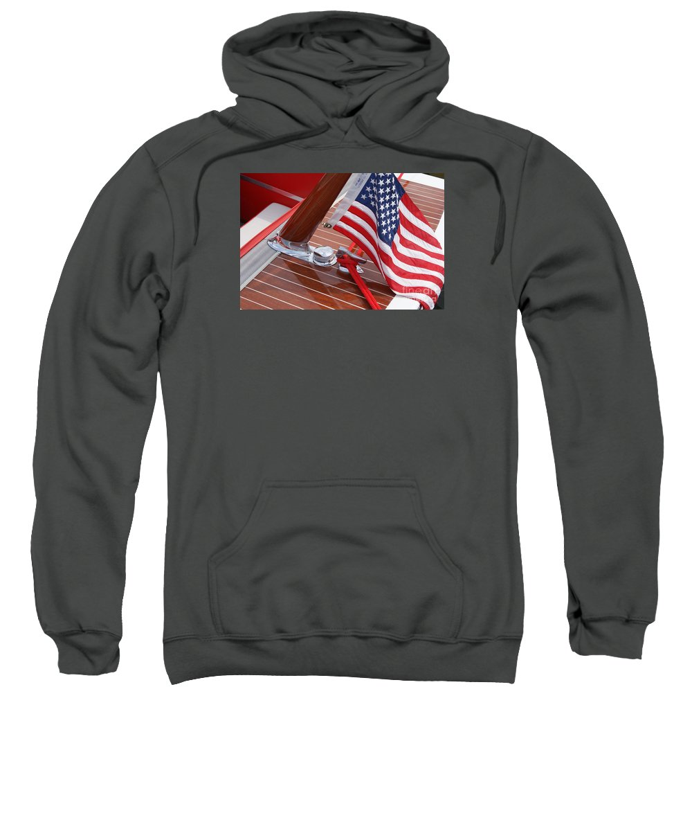 Boat Sweatshirt featuring the photograph 1960's Century Coronado by Neil Zimmerman
