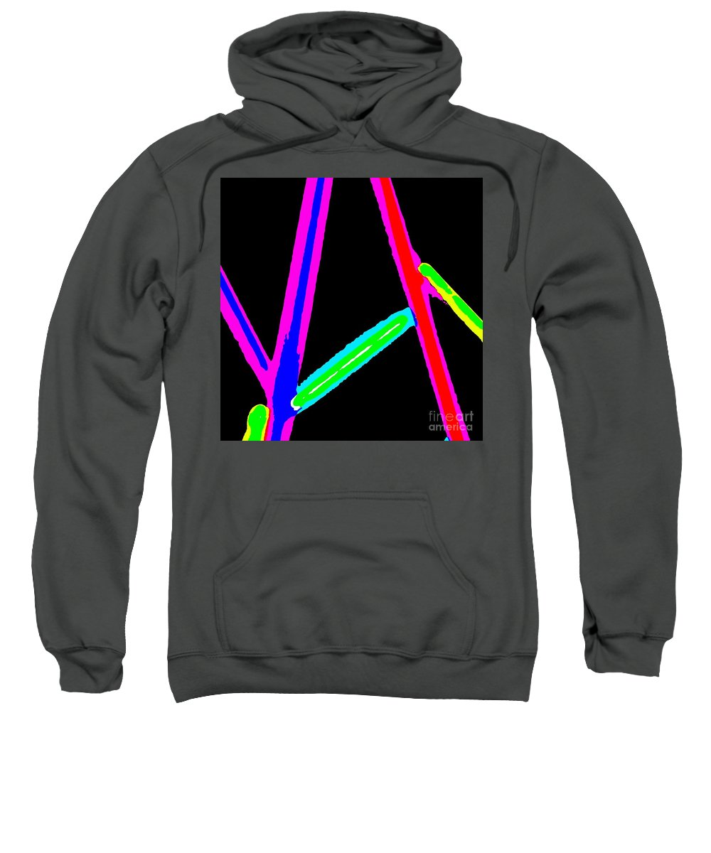 1960 Sweatshirt featuring the painting 1960s Neon by Eric Schiabor