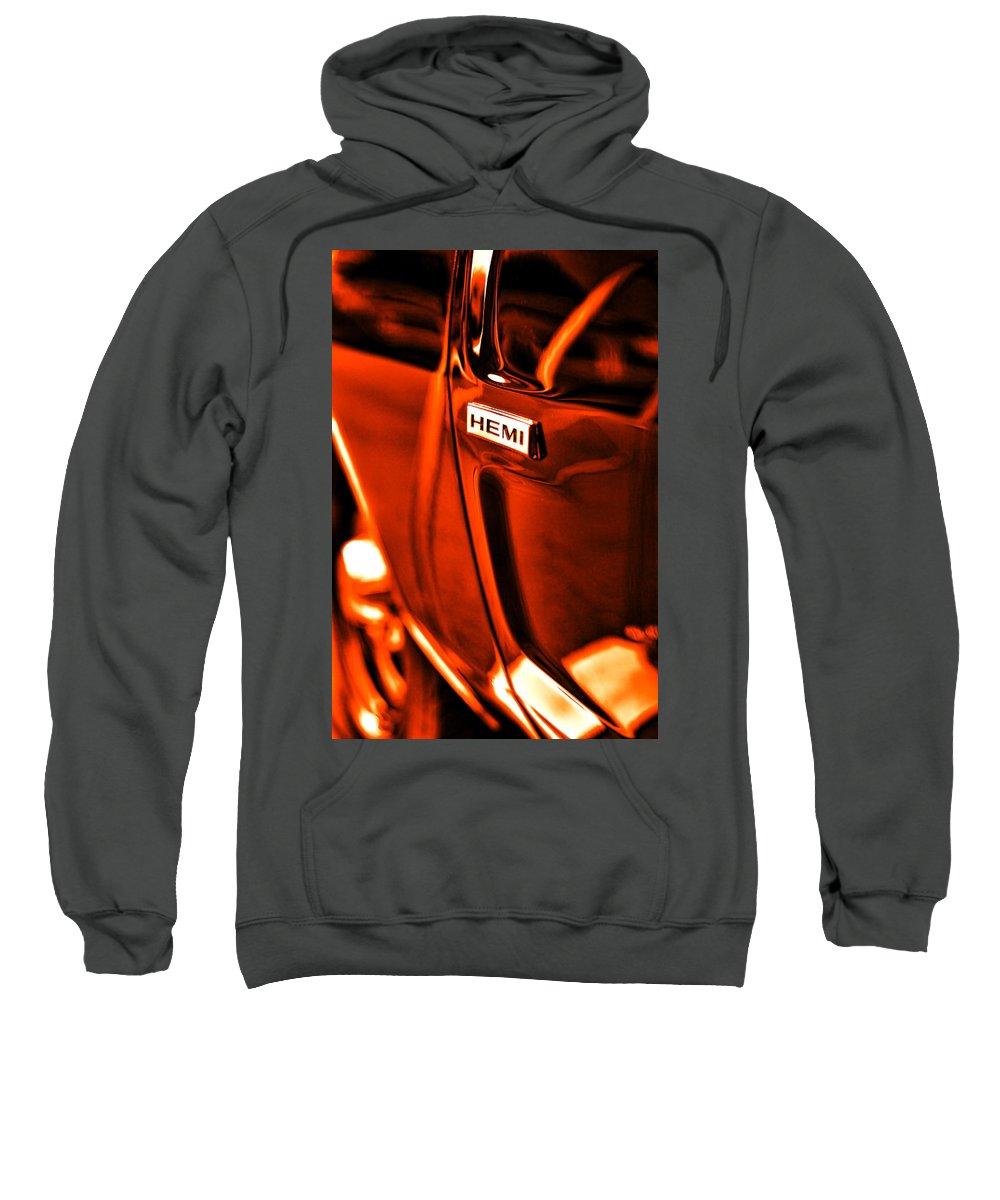 1968 Sweatshirt featuring the photograph 1968 Hemi Dodge Charger by Gordon Dean II