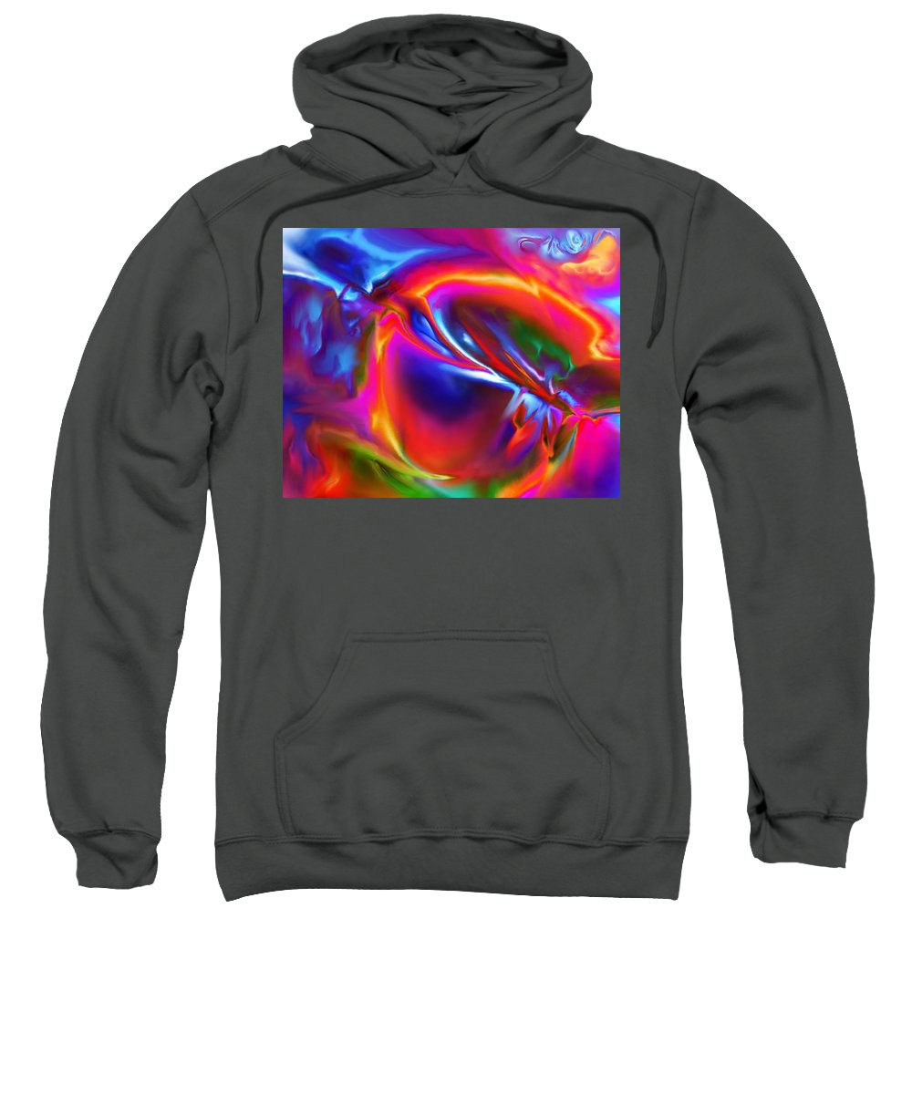 Sweatshirt featuring the digital art 1997001 by Studio Pixelskizm