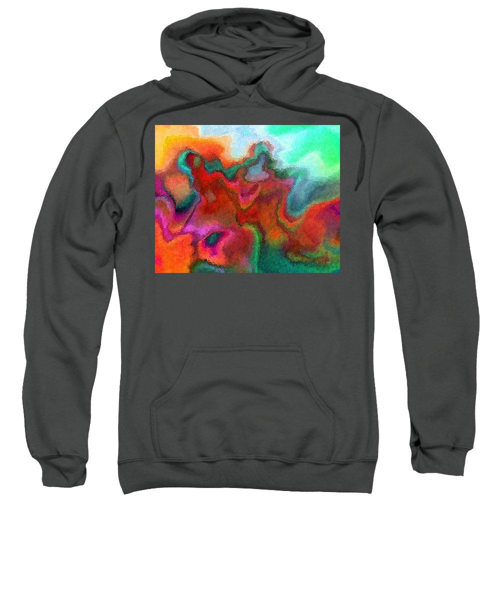 Sweatshirt featuring the digital art 1997022 by Studio Pixelskizm