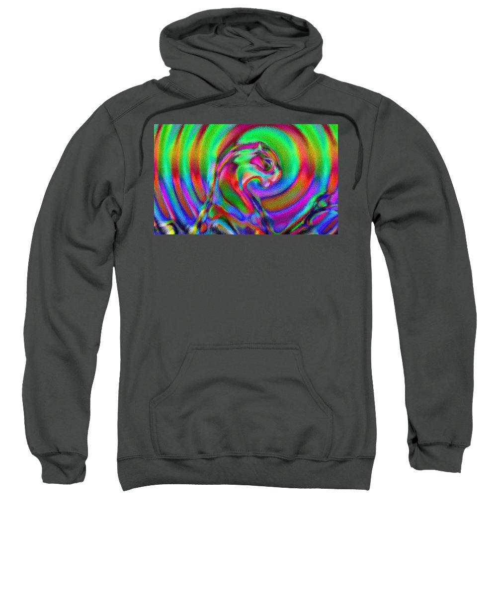 Sweatshirt featuring the digital art 1998002 by Studio Pixelskizm