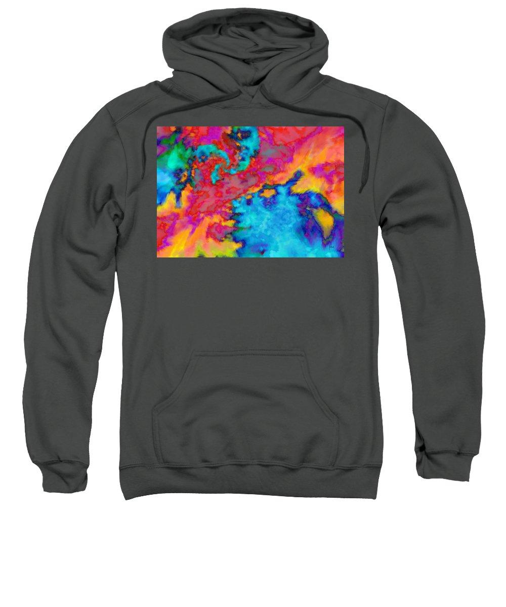 Sweatshirt featuring the digital art 1998023 by Studio Pixelskizm