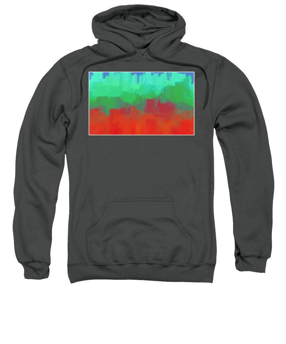 Sweatshirt featuring the digital art 1998044 by Studio Pixelskizm