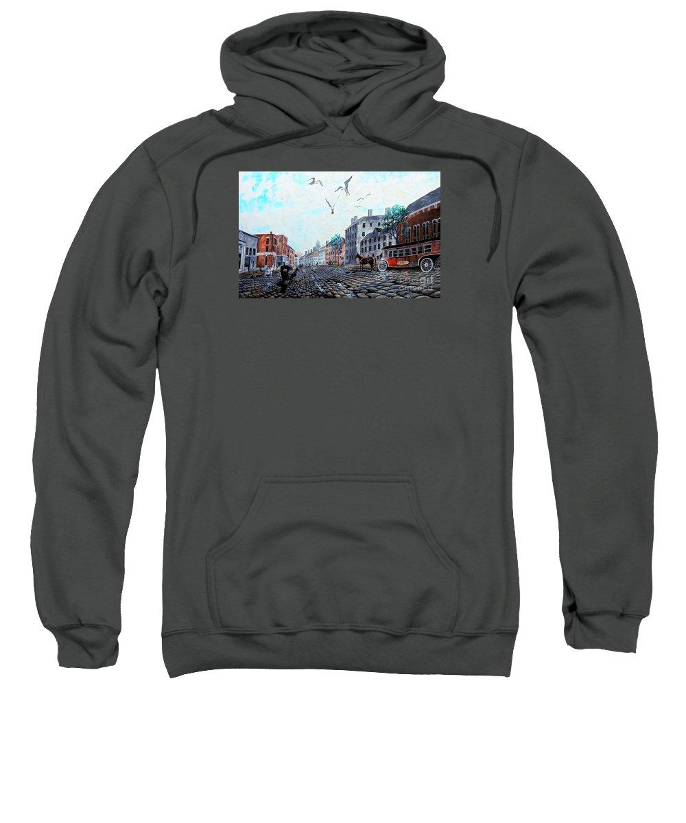 Landmark Sweatshirt featuring the photograph 19th Century Mural by Marcia Lee Jones