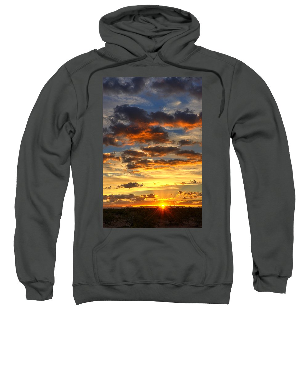 Sunrise Sweatshirt featuring the photograph A Sonoran Morning by Saija Lehtonen