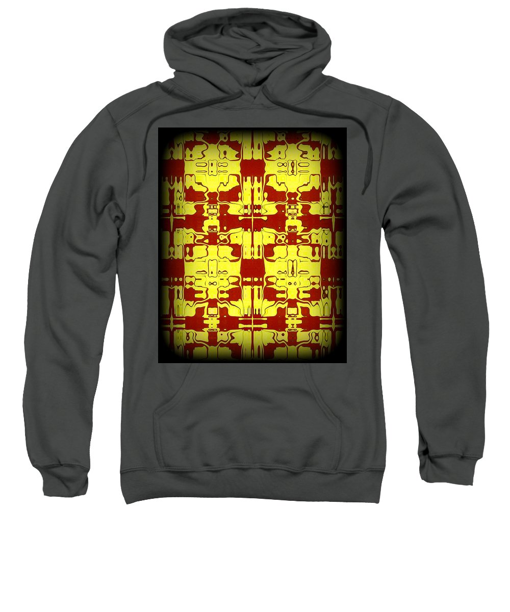 Original Sweatshirt featuring the painting Abstract Series 5 by J D Owen