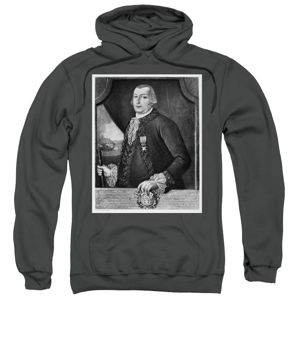 18th Century Sweatshirt featuring the painting Bernardo De Galvez (1746-1786) by Granger