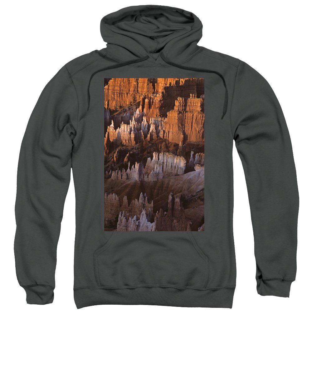 Landscape Sweatshirt featuring the photograph Bryce Canyon National Park Hoodo Monoliths Sunrise Southern Utah by Jim Corwin