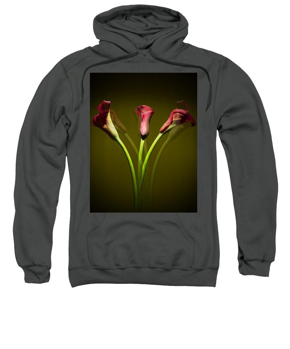 Cala Lily Sweatshirt featuring the photograph Cala Lily by Mark Ashkenazi