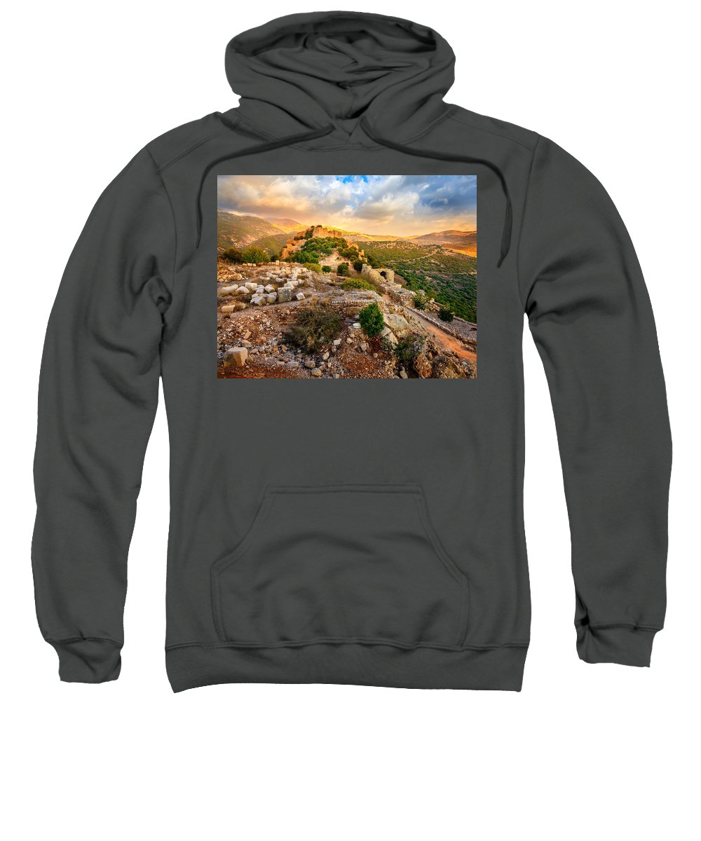 Castle Sweatshirt featuring the photograph Castle Nimrod by Alexey Stiop