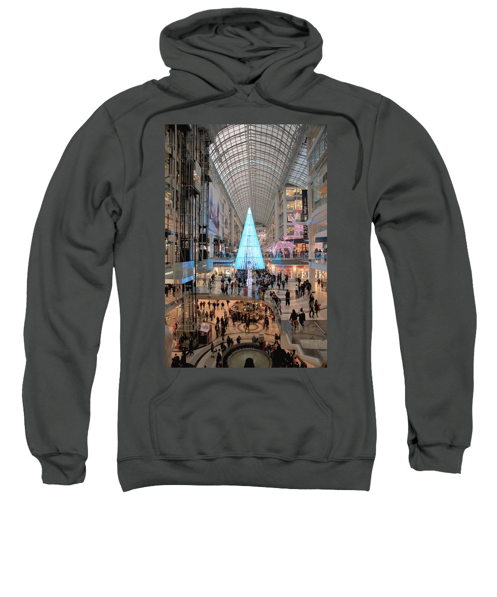 Shopping Sweatshirt featuring the photograph Christmas Shopping In Toronto by Valentino Visentini