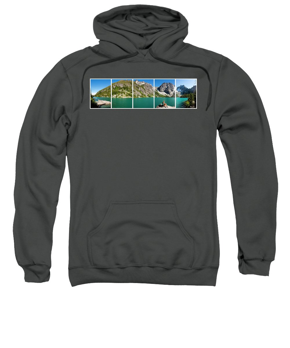 30-34 Years Sweatshirt featuring the photograph Colchuck Lake, Alpine Lakes Wilderness by Michael Hanson