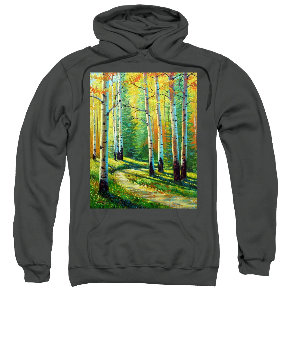 Landscape Sweatshirt featuring the painting Colors Of The Season by David G Paul