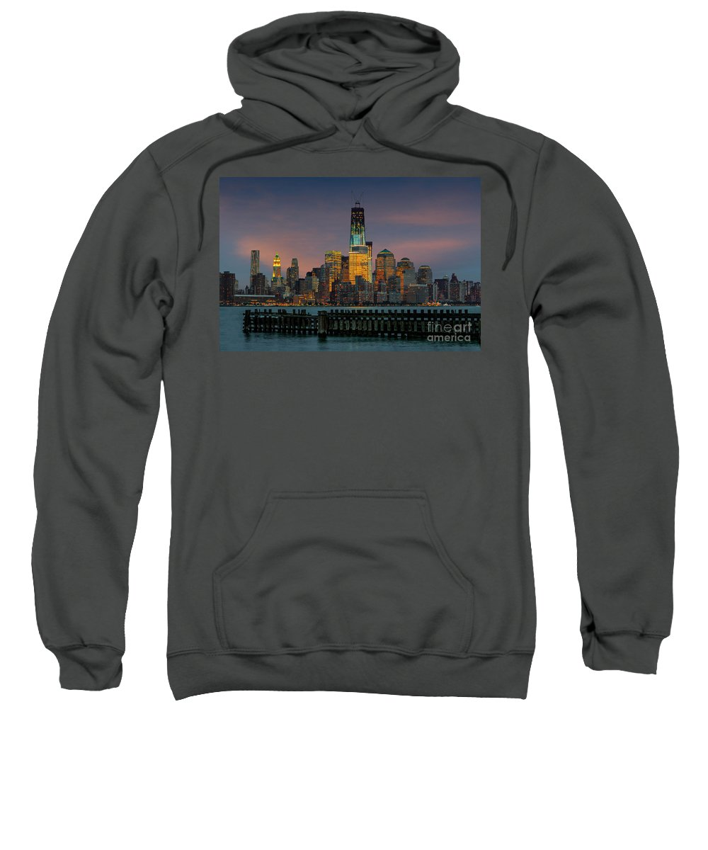 Architect Sweatshirt featuring the photograph Construction Of The Freedom Tower by Jerry Fornarotto