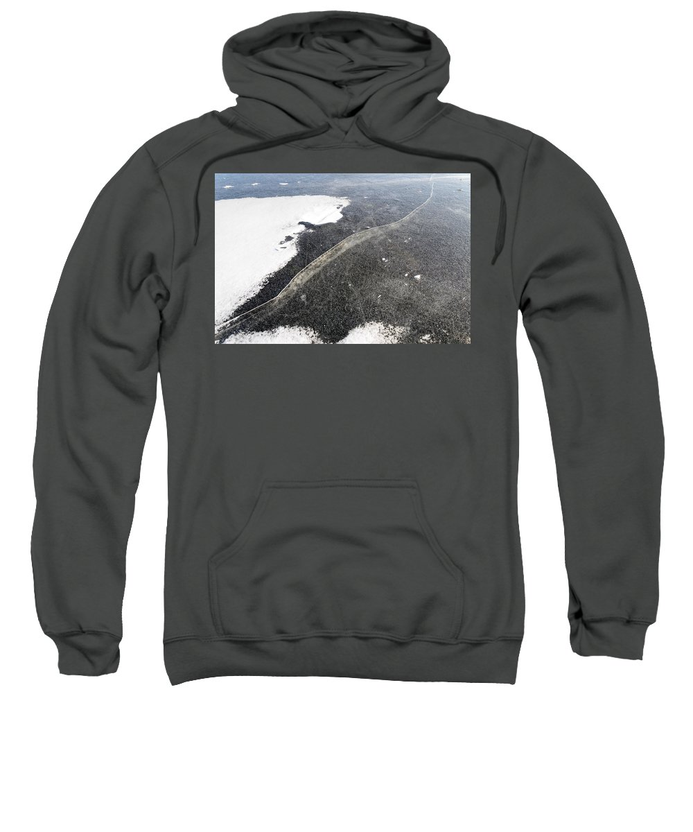 Dnieper Sweatshirt featuring the photograph Crackle In Ice by Alain De Maximy