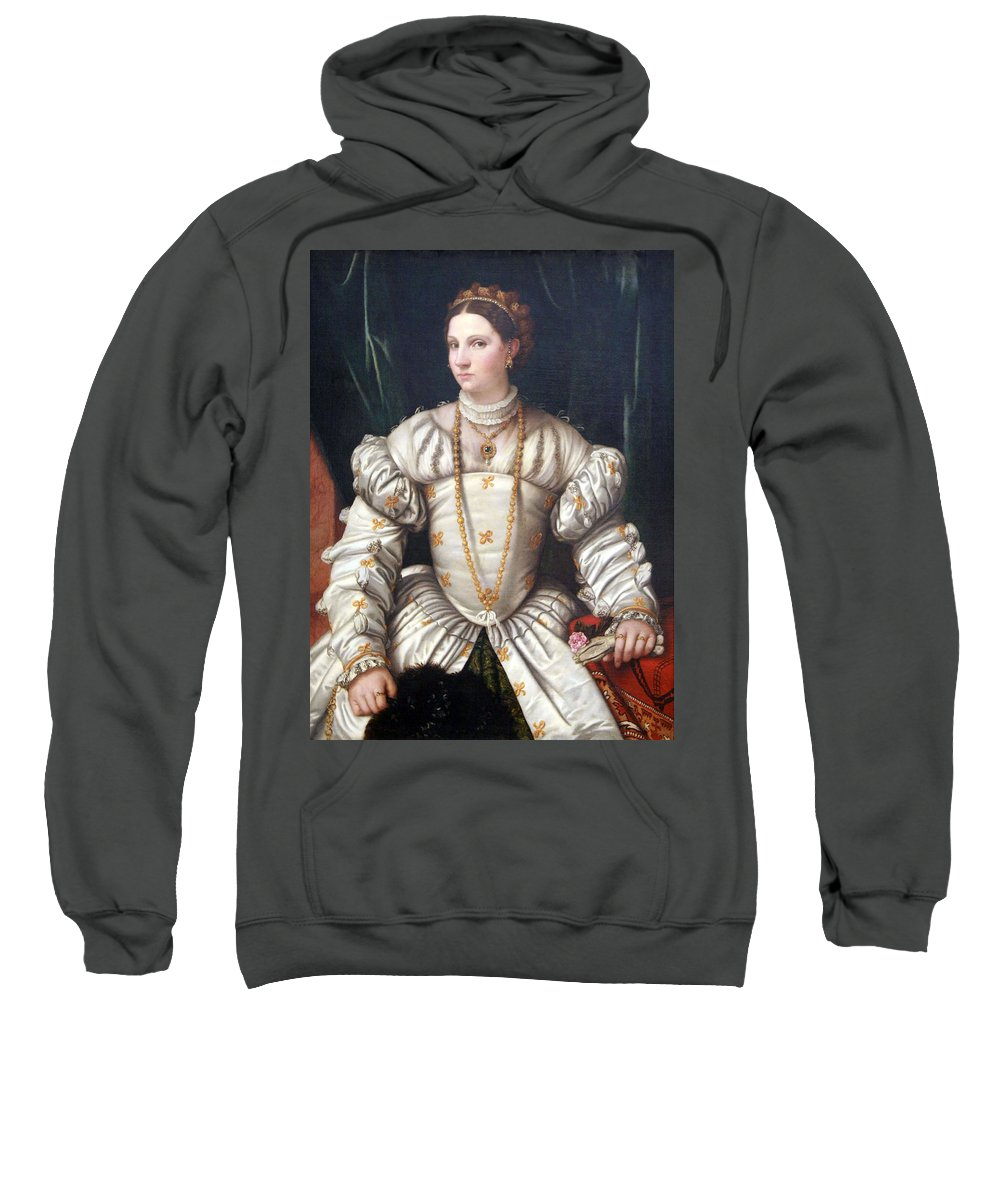 Portrait Of A Lady In White Sweatshirt featuring the photograph Da Brescia's Portrait Of A Lady In White by Cora Wandel