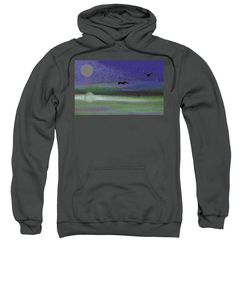 Expressive Sweatshirt featuring the digital art Flight by Lenore Senior