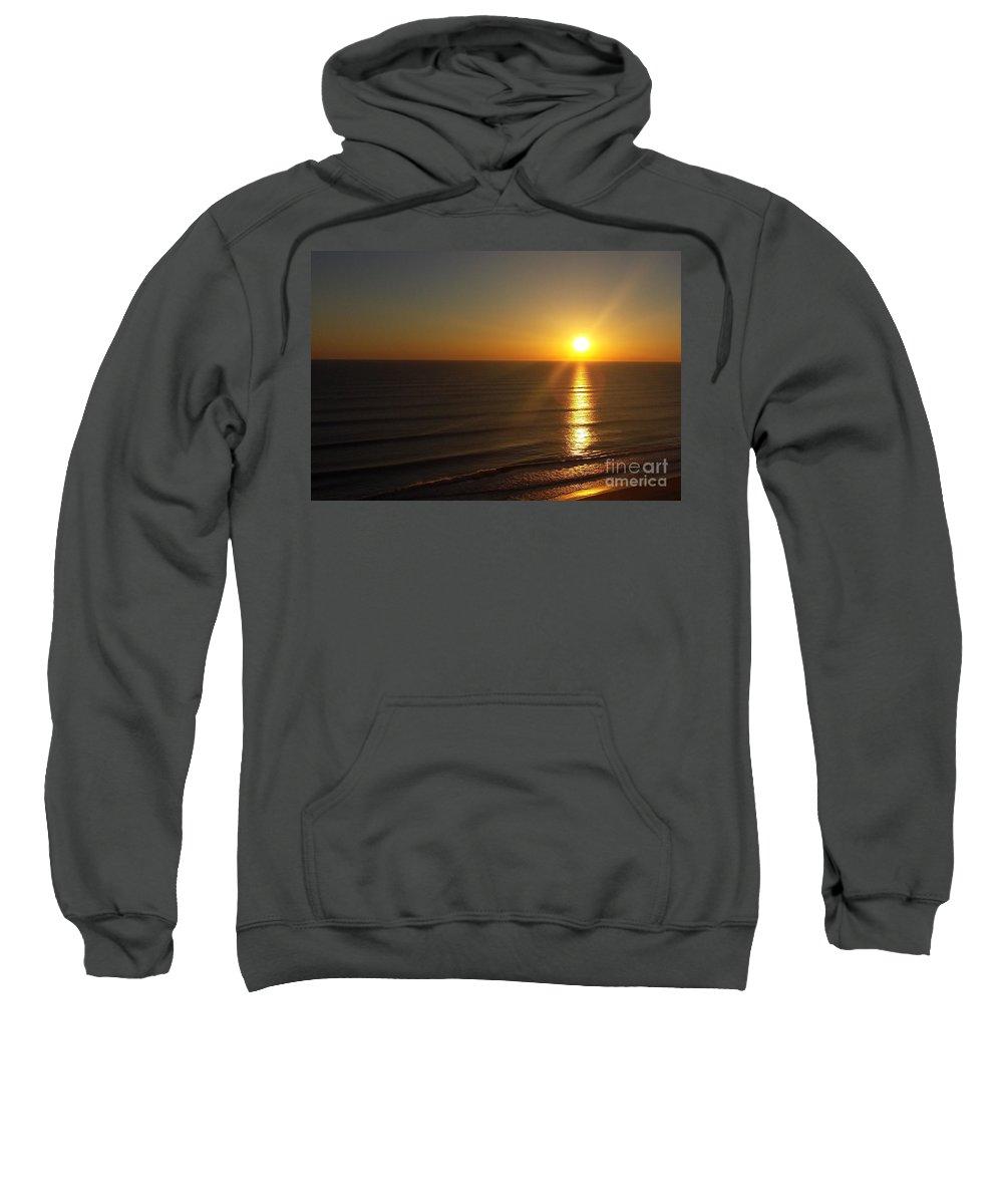 Sunrise Sweatshirt featuring the photograph Golden Glow by Charlotte Stevenson