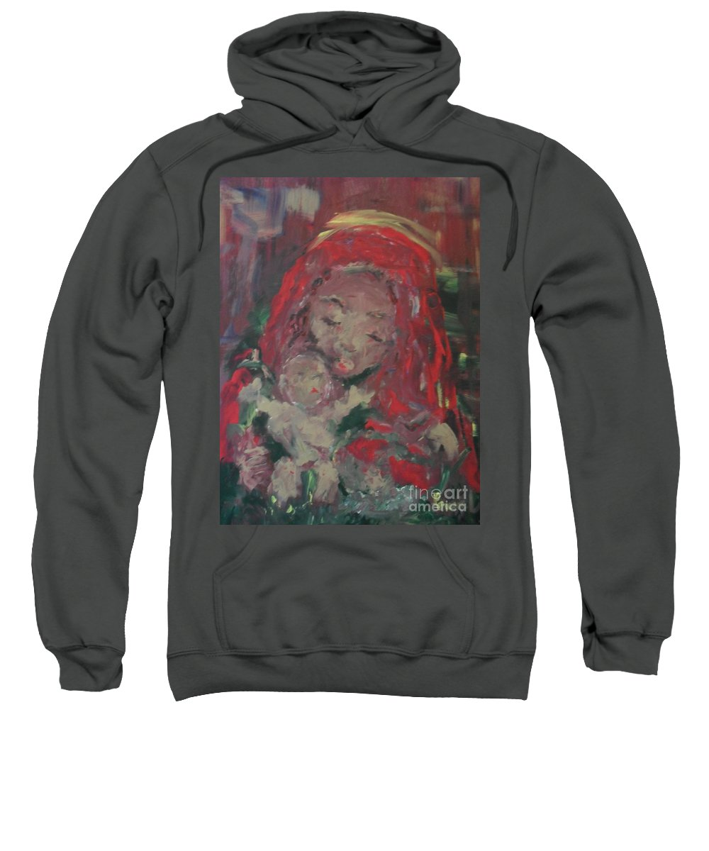 Woman Sweatshirt featuring the painting Hope by Laurie Lundquist