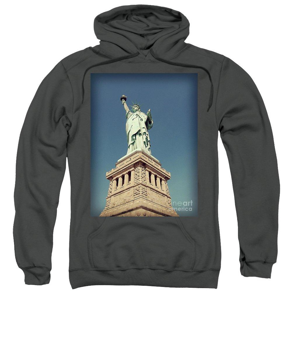 Statue Of Liberty Sweatshirt featuring the photograph Lady Liberty by Meghan at FireBonnet Art