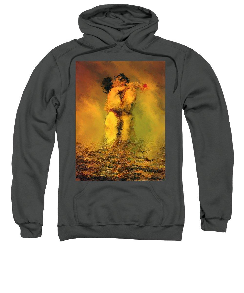 Nudes Sweatshirt featuring the photograph Lovers by Kurt Van Wagner