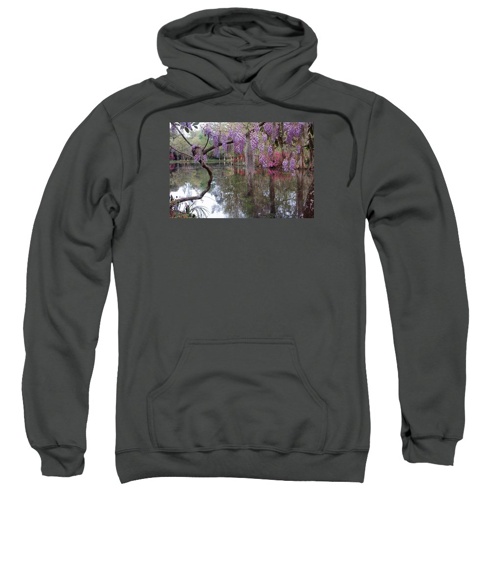 Wisteria Sweatshirt featuring the photograph Magnolia Plantation Gardens Series II by Suzanne Gaff