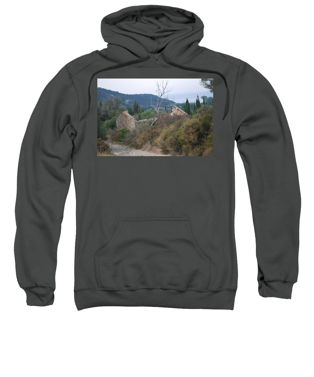 Landscape Sweatshirt featuring the photograph Old House 2 by George Katechis