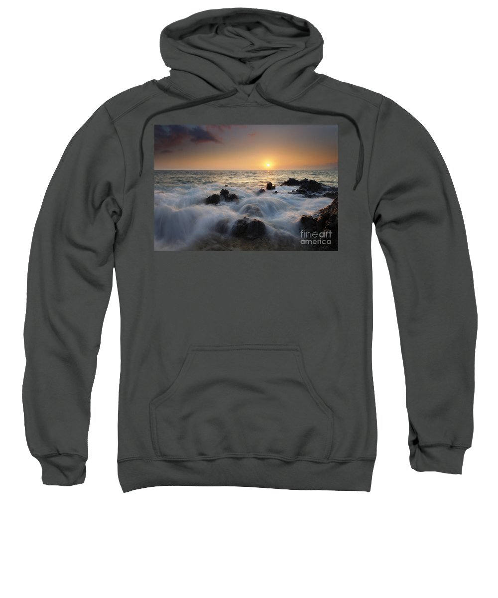Maui Sweatshirt featuring the photograph Over The Rocks by Mike Dawson