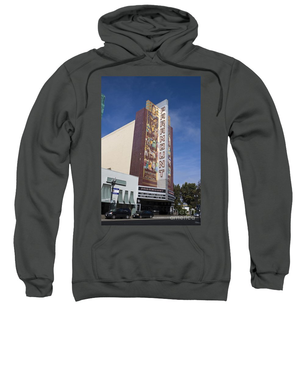 Travel Sweatshirt featuring the photograph Paramount Theatre Oakland California by Jason O Watson
