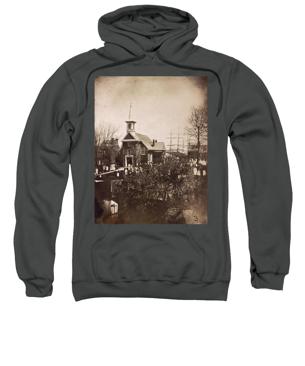 1850s Sweatshirt featuring the photograph Philadelphia, C1855 by Granger