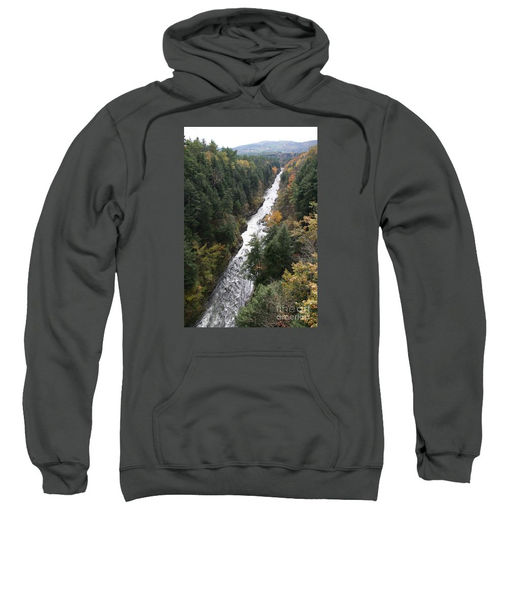 Quechee Gorge Sweatshirt featuring the photograph Quechee Gorge by Christiane Schulze Art And Photography