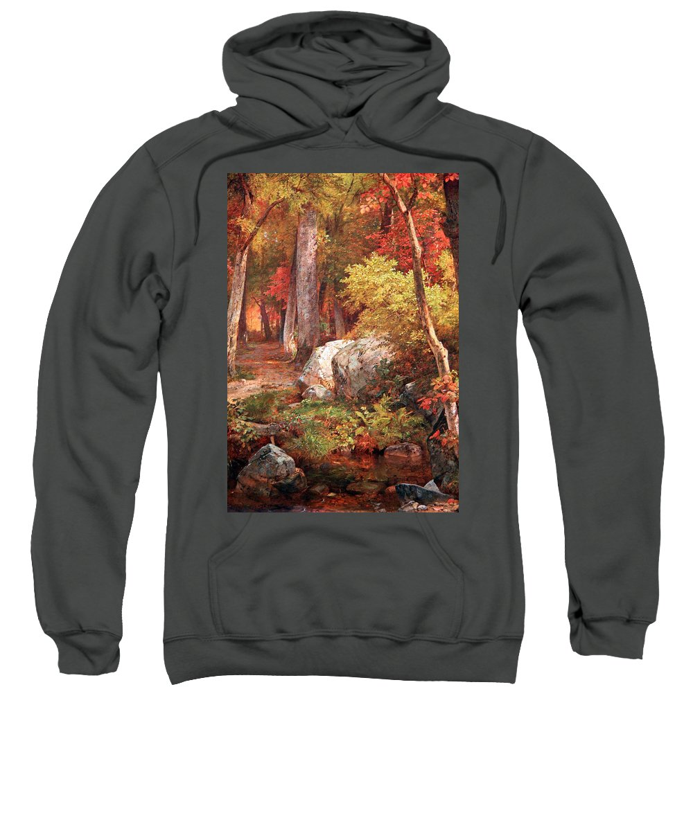 October Sweatshirt featuring the photograph Richards' October by Cora Wandel
