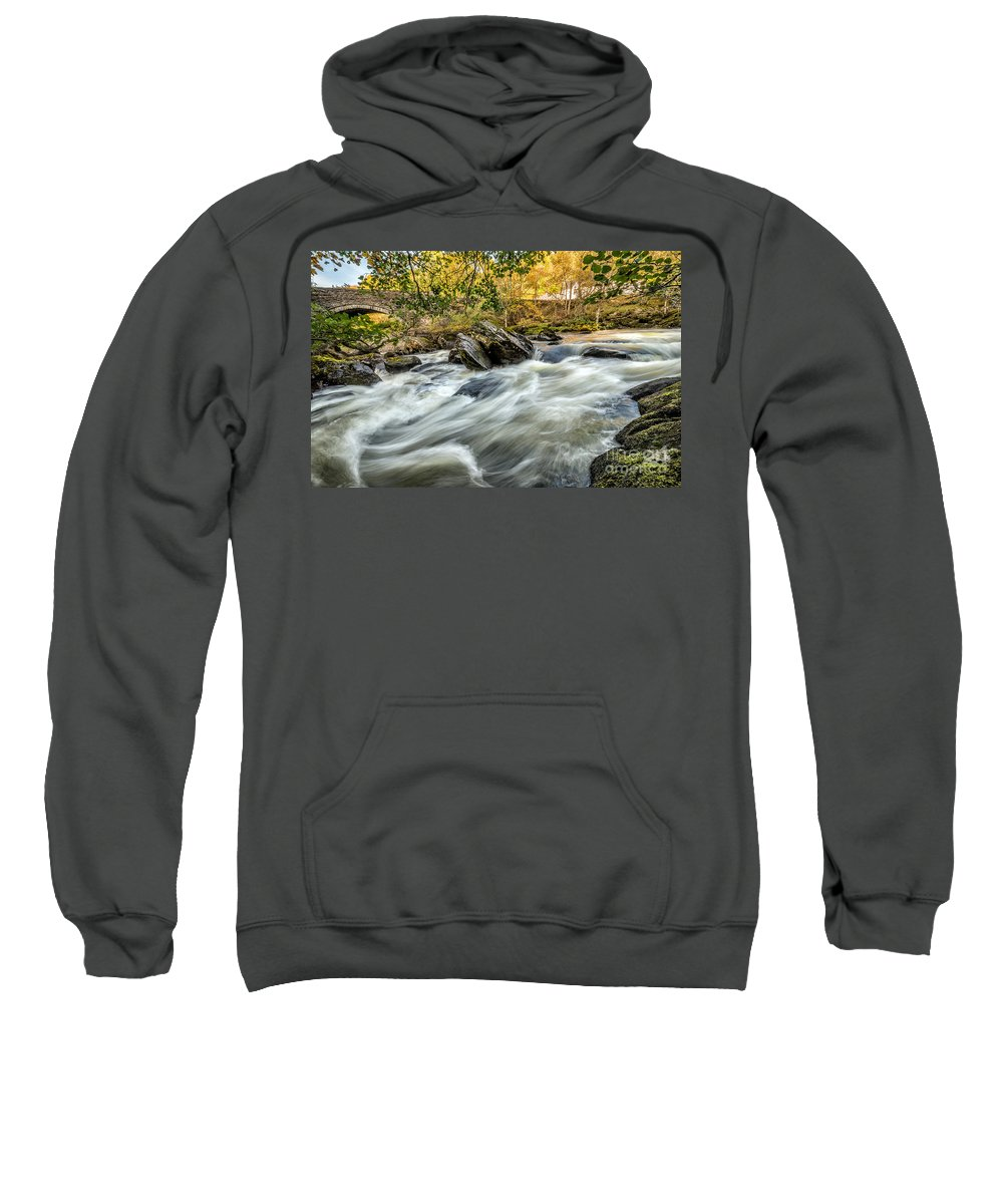 Waterscape Sweatshirt featuring the photograph Rocky River by Adrian Evans