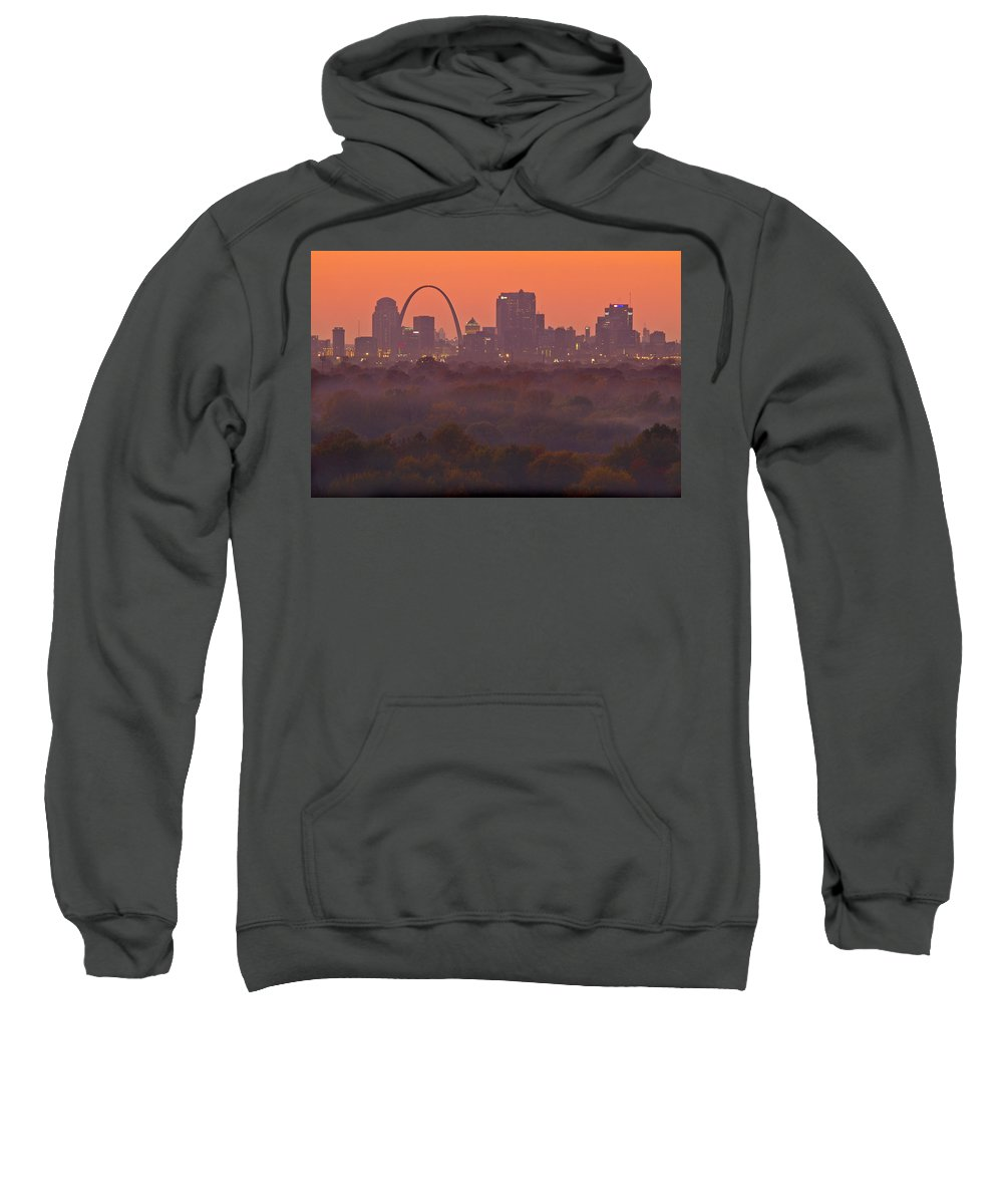 St Louis Sweatshirt featuring the photograph St Louis Skyline And Arch by Garry McMichael