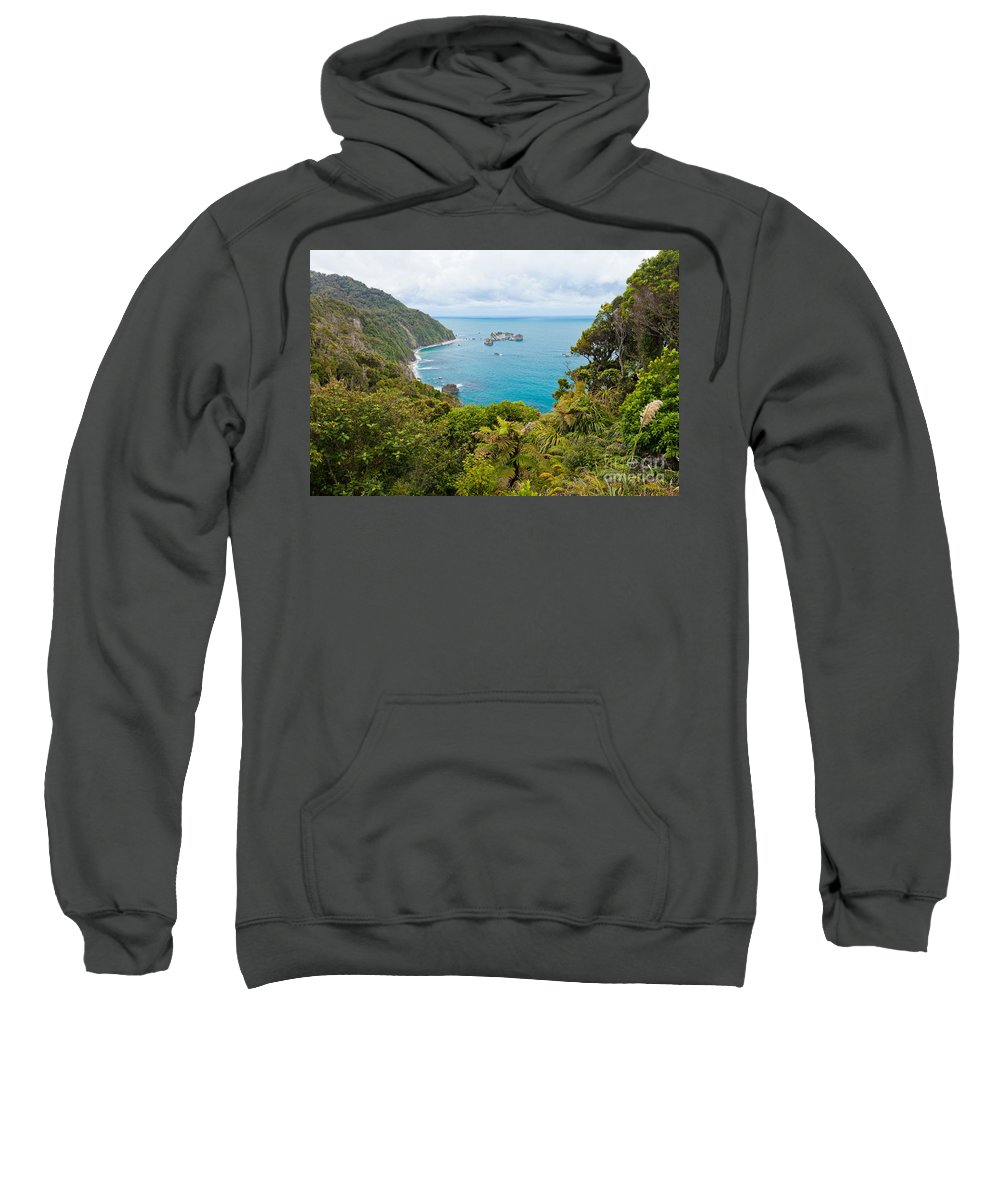 South Island Sweatshirt featuring the photograph Tasman Sea At West Coast Of South Island Of New Zealand by Stephan Pietzko