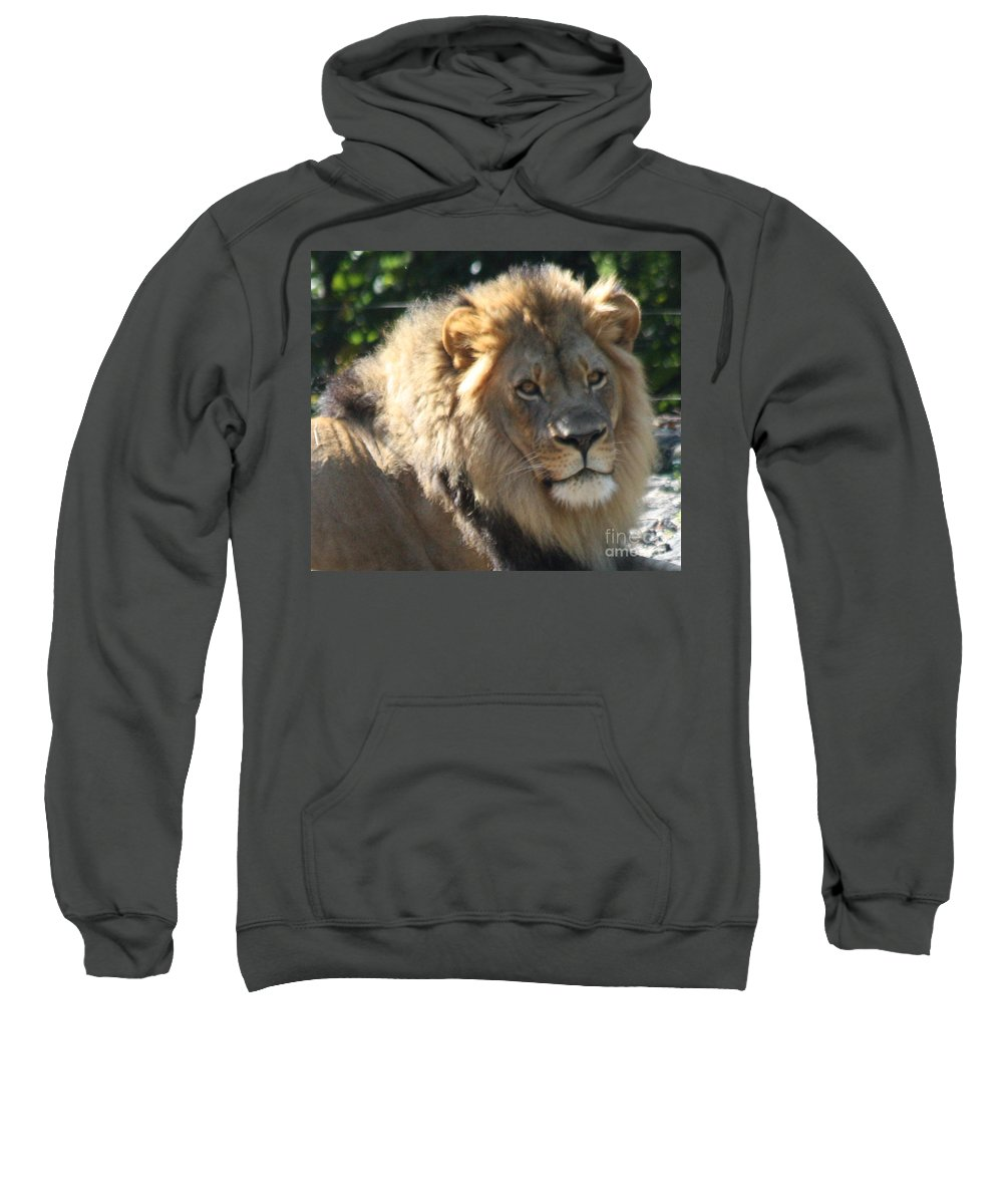 The King Of The Jungle Sweatshirt featuring the photograph The King Of The Jungle by John Telfer