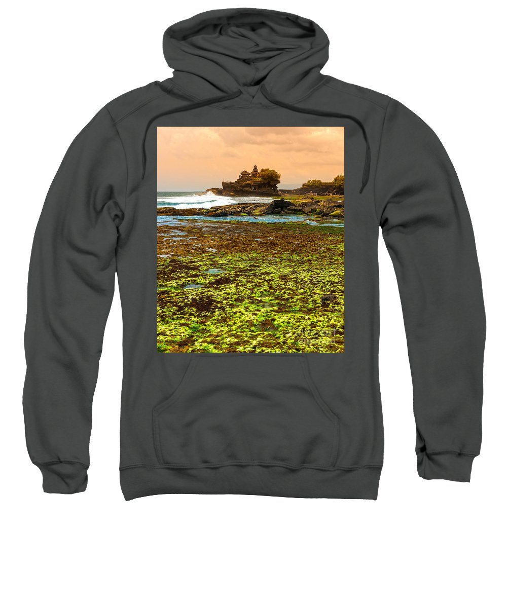 Architecture Sweatshirt featuring the photograph The Tanah Lot Temple - Bali - Indonesia by Luciano Mortula